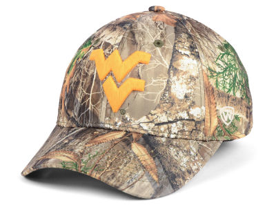 West Virginia Mountaineers Top of the World NCAA Berma Camo Flex Cap