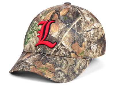 Louisville Cardinals Top of the World NCAA Berma Camo Flex Cap