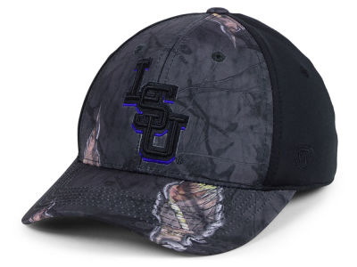 LSU Tigers Top of the World NCAA Nightly Camo Flex Cap