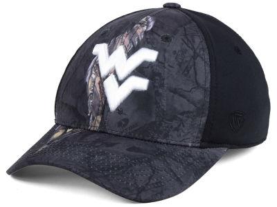West Virginia Mountaineers Top of the World NCAA Nightly Camo Flex Cap 898fc54d0156