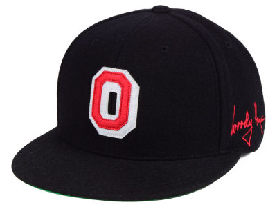 Ohio State Buckeyes Top of the World NCAA Woody O Patched Fitted Cap