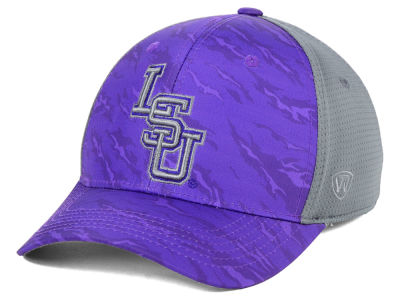 LSU Tigers Top of the World NCAA Tiger Camo Flex Cap