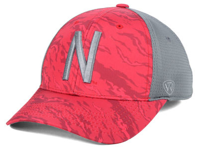 Nebraska Cornhuskers Top of the World NCAA Tiger Camo Flex Cap