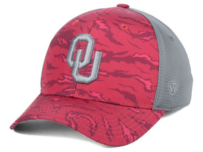 Oklahoma Sooners Top of the World NCAA Tiger Camo Flex Cap