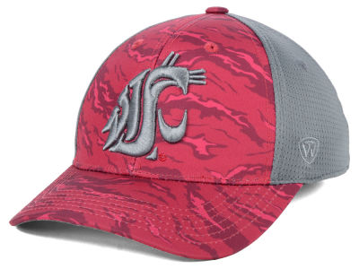Washington State Cougars Top of the World NCAA Tiger Camo Flex Cap