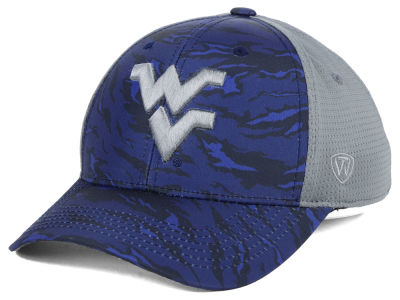 West Virginia Mountaineers Top of the World NCAA Tiger Camo Flex Cap