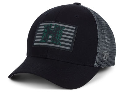 Hawaii Warriors Top of the World NCAA Back the School Flag Trucker Cap