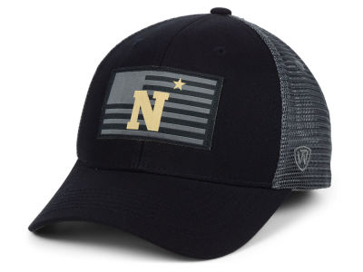 Navy Midshipmen Top of the World NCAA Back the School Flag Trucker Cap