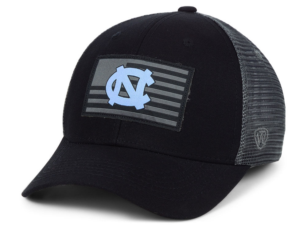 North Carolina Tar Heels Top of the World NCAA Back the School Flag Trucker  Cap  c6d584a125ad