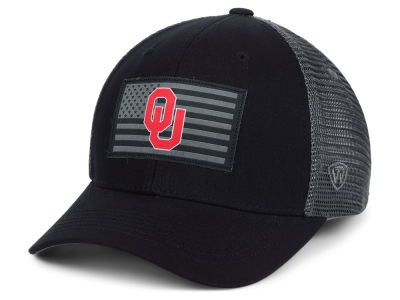 Oklahoma Sooners Top of the World NCAA Back the School Flag Trucker Cap