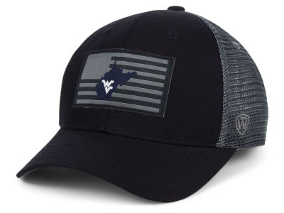 West Virginia Mountaineers Top of the World NCAA Back the School Flag Trucker Cap