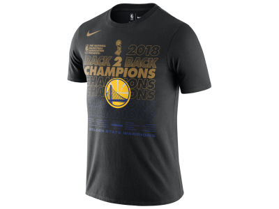 Golden State Warriors Nike 2018 NBA Men's Finals Champion Official Locker Room T-Shirt