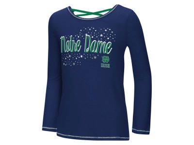 Notre Dame Fighting Irish Colosseum NCAA Youth Girls Crosscross Long Sleeve T-Shirt