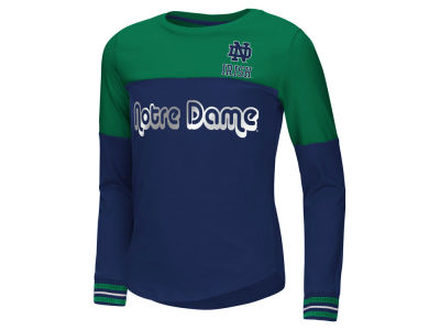 Notre Dame Fighting Irish Colosseum NCAA Youth Girls Colorblocked Long Sleeve T-Shirt