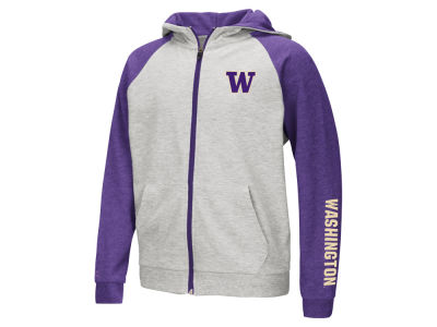 Washington Huskies Colosseum NCAA Youth Full Zip Hooded Sweatshirt