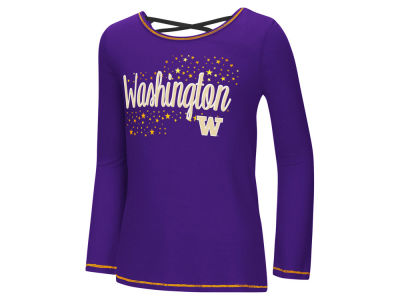 Washington Huskies Colosseum NCAA Youth Girls Crosscross Long Sleeve T-Shirt