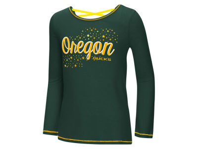 Oregon Ducks Colosseum NCAA Youth Girls Crosscross Long Sleeve T-Shirt