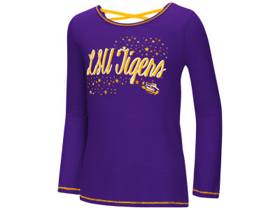LSU Tigers Colosseum NCAA Youth Girls Crosscross Long Sleeve T-Shirt