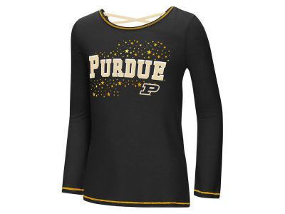 Purdue Boilermakers Colosseum NCAA Youth Girls Crosscross Long Sleeve T-Shirt