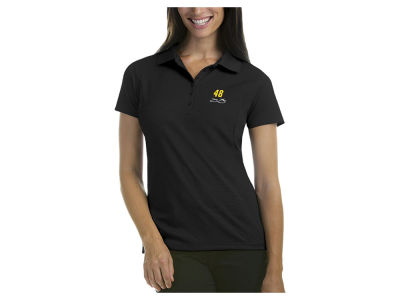 Nascar Logo Jimmie Johnson Women's Pique Xtra Lite Polo