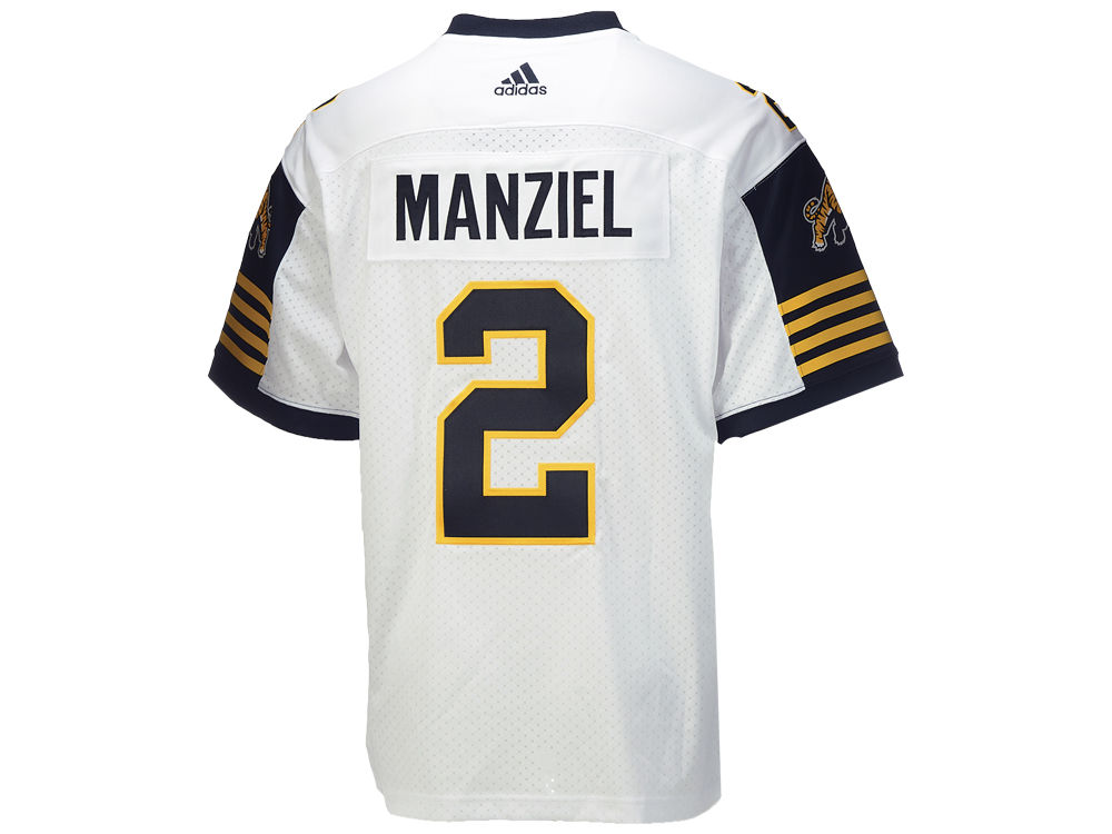 Hamilton Tiger-Cats Johnny Manziel adidas CFL Men s Premier Player Jersey  48b9f1099