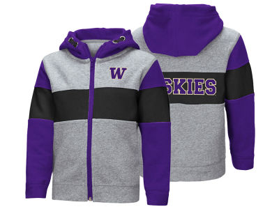 Washington Huskies Colosseum NCAA Toddler Colorblocked Full Zip Sweatshirt