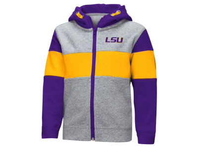 LSU Tigers Colosseum NCAA Toddler Colorblocked Full Zip Sweatshirt