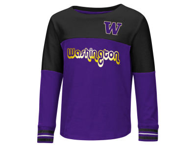 Washington Huskies Colosseum NCAA Toddler Girls Colorblocked Long Sleeve T-Shirt