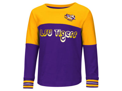LSU Tigers Colosseum NCAA Toddler Girls Colorblocked Long Sleeve T-Shirt