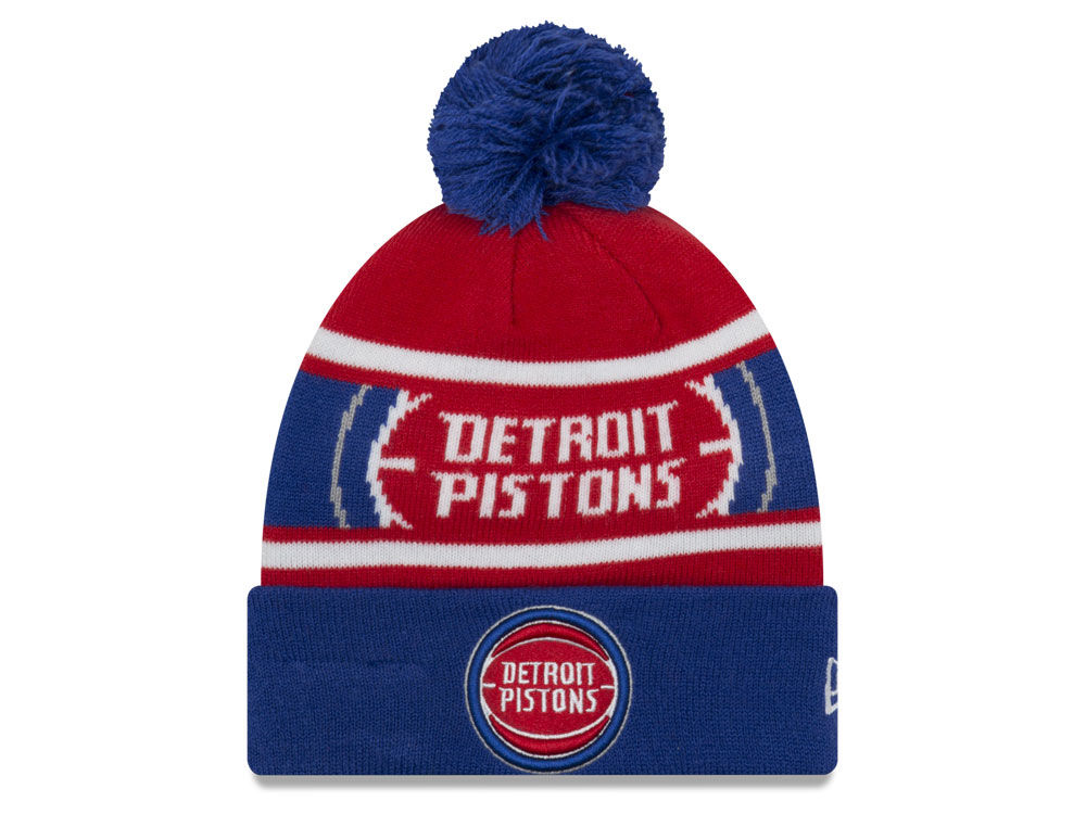 new product bec22 e859d promo code for new era womens detroit pistons cozy knit hat 7438c 9f259   official detroit pistons new era nba youth callout pom knit ea093 6805a