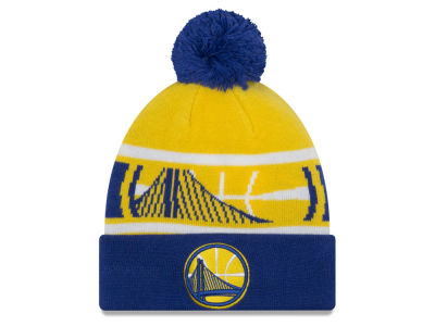 Golden State Warriors New Era NBA Youth Callout Pom Knit