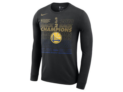 Golden State Warriors Nike 2018 NBA Men's Finals Champion Official Locker Room Long Sleeve T-Shirt