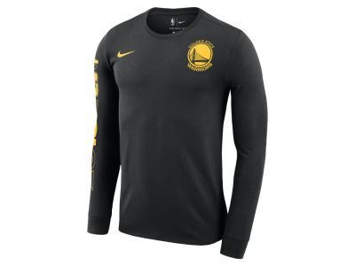 Golden State Warriors Nike 2018 NBA Men's Finals Champion Dri-Fit Long Sleeve Crew T-Shirt