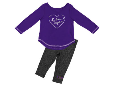 LSU Tigers Colosseum NCAA Newborn Girls Legging Set