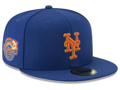New York Mets New Era MLB Trophy Patch 59FIFTY Cap