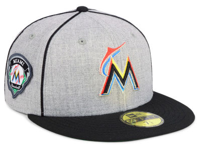 Miami Marlins New Era MLB Stache 59FIFTY Cap