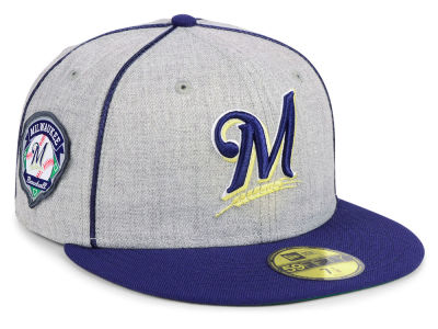Milwaukee Brewers New Era MLB Stache 59FIFTY Cap