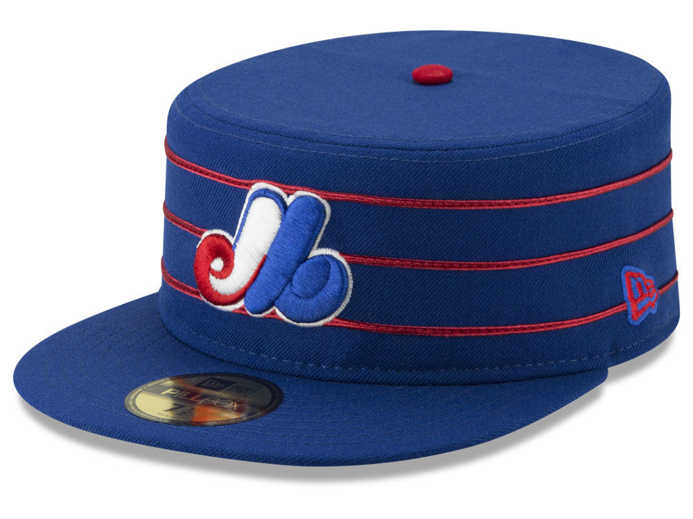 Montreal Expos New Era MLB Pillbox 59FIFTY Cap  70c4a3d0c93c