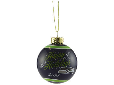 Seattle Seahawks 2018 Glass Ball Ornament