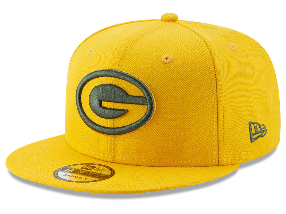 6ef8f9eb15d Green Bay Packers New Era NFL Logo Elements Collection 9FIFTY Snapback Cap