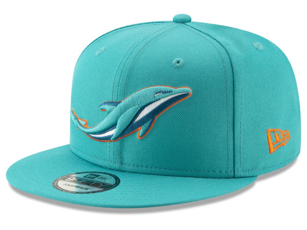 Miami Dolphins New Era NFL Logo Elements Collection 9FIFTY Snapback Cap  1330b8d41c54