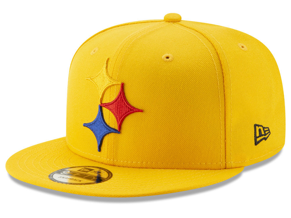 Pittsburgh Steelers New Era NFL Logo Elements Collection 9FIFTY Snapback Cap   624f2bc9151a