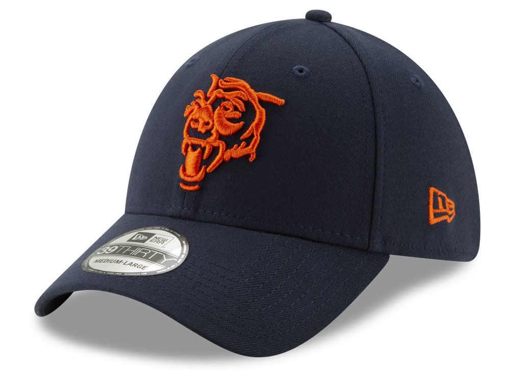 Chicago Bears New Era NFL Logo Elements Collection 39THIRTY Cap ... 05624a047278