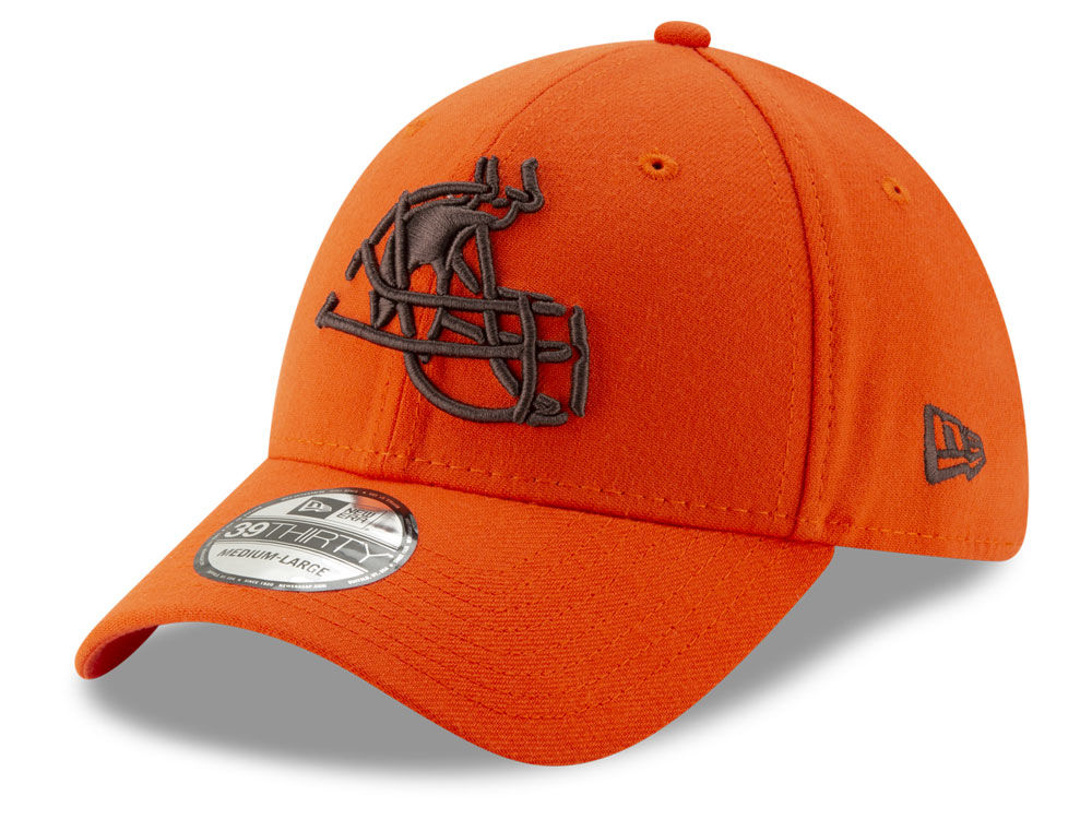 e7ca9dfa50f Cleveland Browns New Era NFL Logo Elements Collection 39THIRTY Cap ...