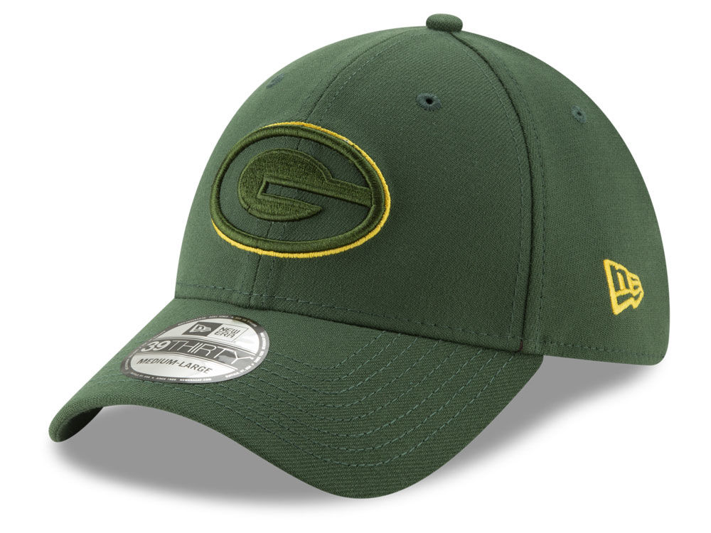 bab202eb194 Green Bay Packers New Era NFL Logo Elements Collection 39THIRTY Cap ...