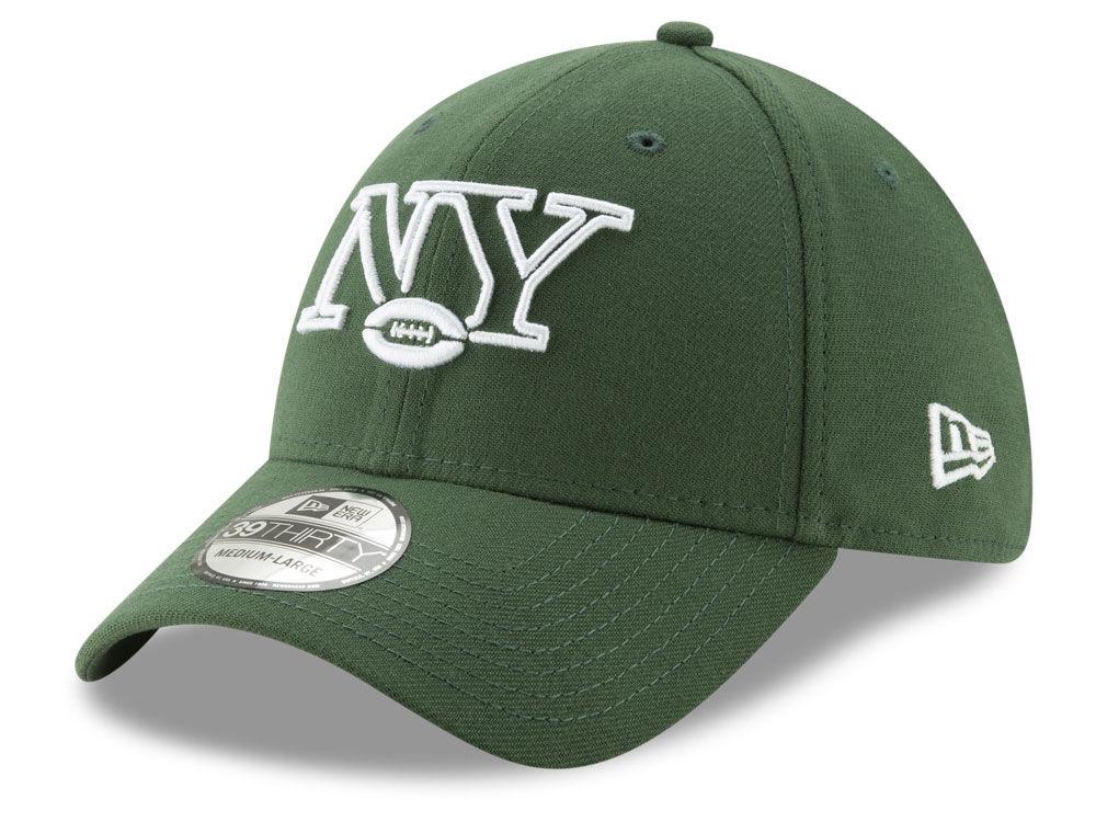 New York Jets New Era NFL Logo Elements Collection 39THIRTY Cap ... 980697336