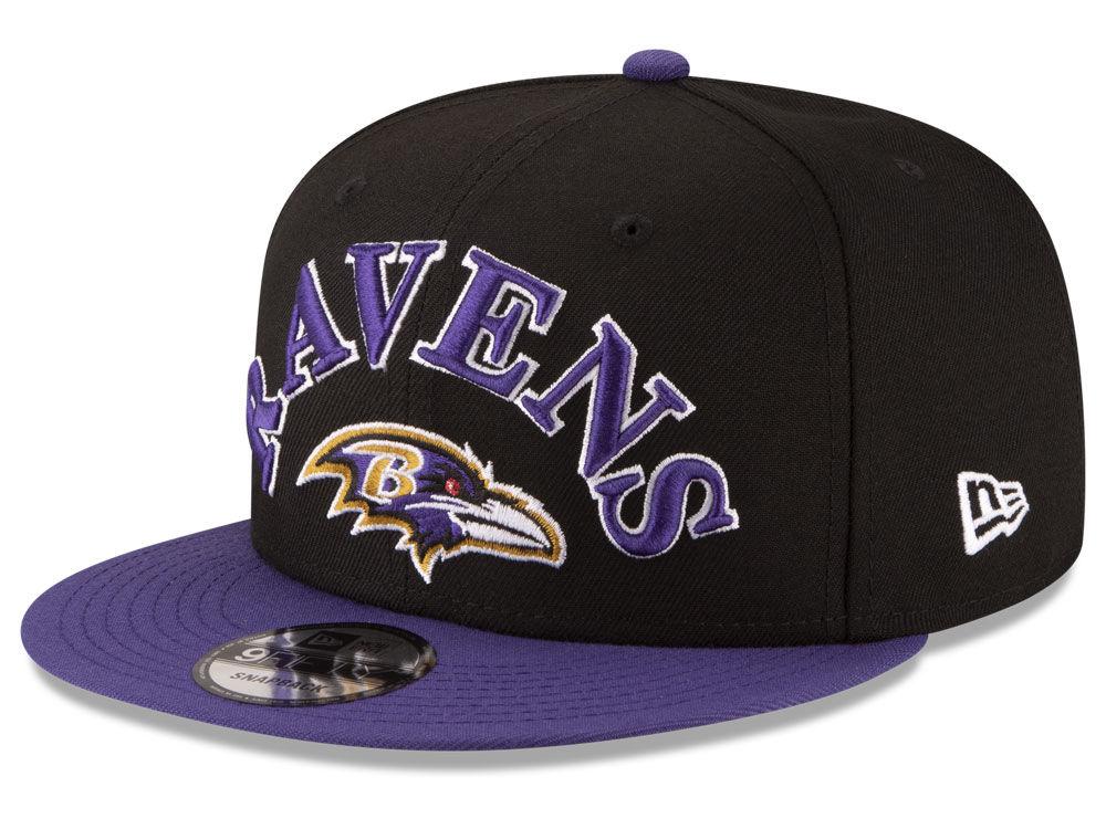 Baltimore Ravens New Era NFL Retro Logo 9FIFTY Snapback Cap  f9cab4e64
