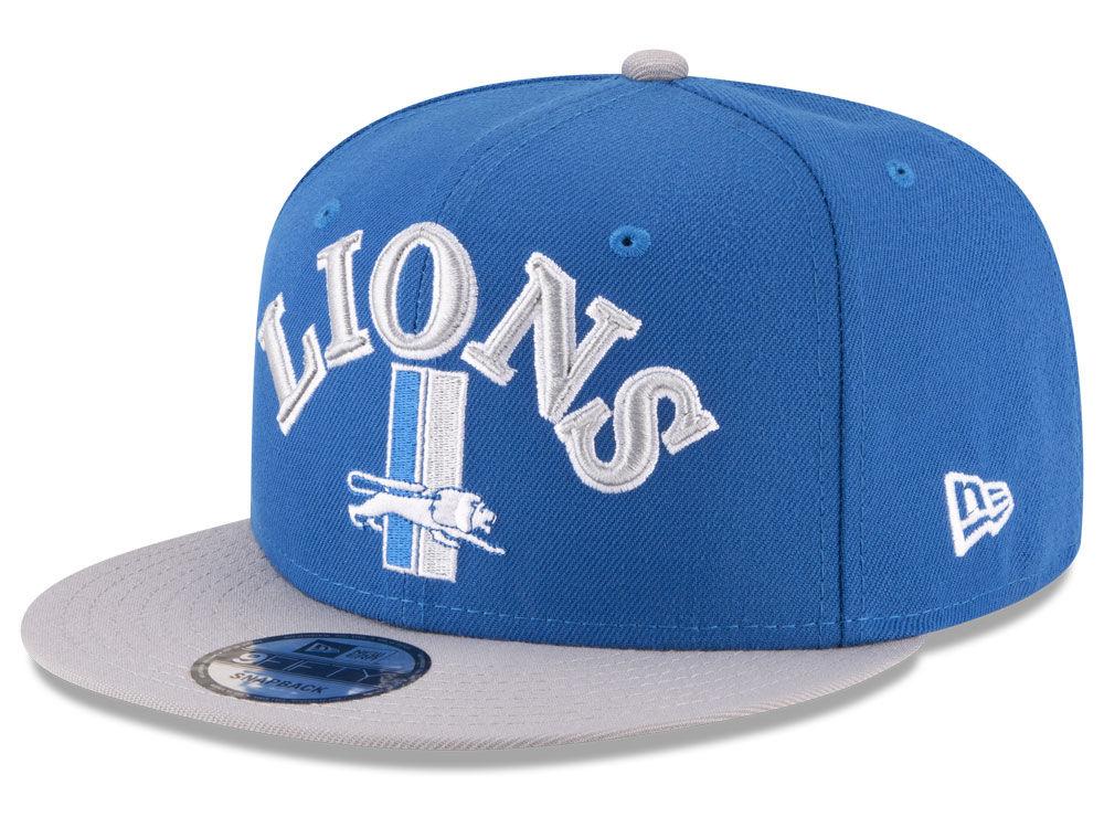 dbde2b756e3 ... denmark detroit lions new era nfl retro logo 9fifty snapback cap 5b7fe  82175