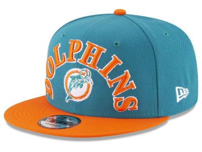 Miami Dolphins New Era NFL Retro Logo 9FIFTY Snapback Cap