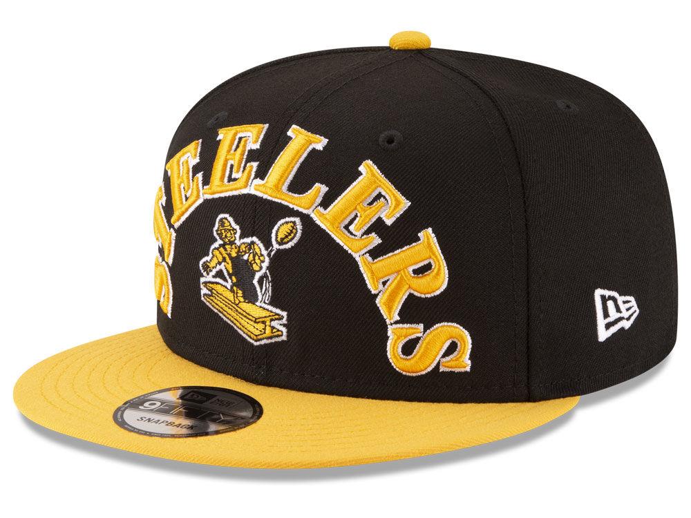 88b178f640a Pittsburgh Steelers New Era NFL Retro Logo 9FIFTY Snapback Cap ...